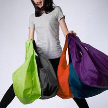 1 pieces Portable folding shopping bag Large nylon bags Thick bag Foldable Waterproof ripstop Shoulder Bag Handbag Free shipping(China (Mainland))