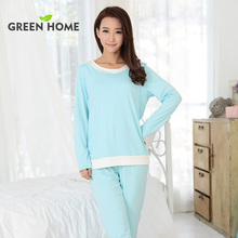 breast feeding clothes set free shipping cotton maternity pyjamas Green Home long sleeve maternity sleepwear for pregnant women