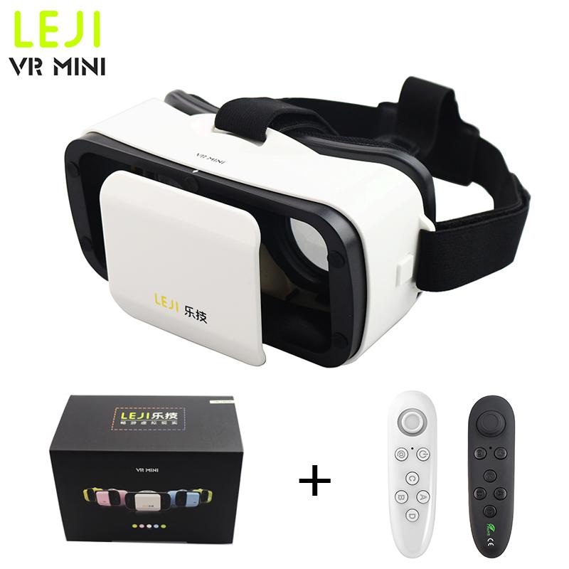 vrbox LEJI VR Mini Virtual Reality 3D Glasses Headset Google Cardboard Oculus Rift Head Mount For 4.7-6'phone+ Remote Controller(China (Mainland))
