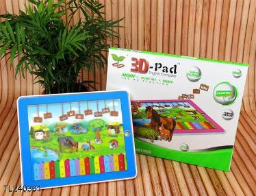 3D-Pad Funny Farm Computer Learning English Machine Computer for Children /kid educational toys(China (Mainland))