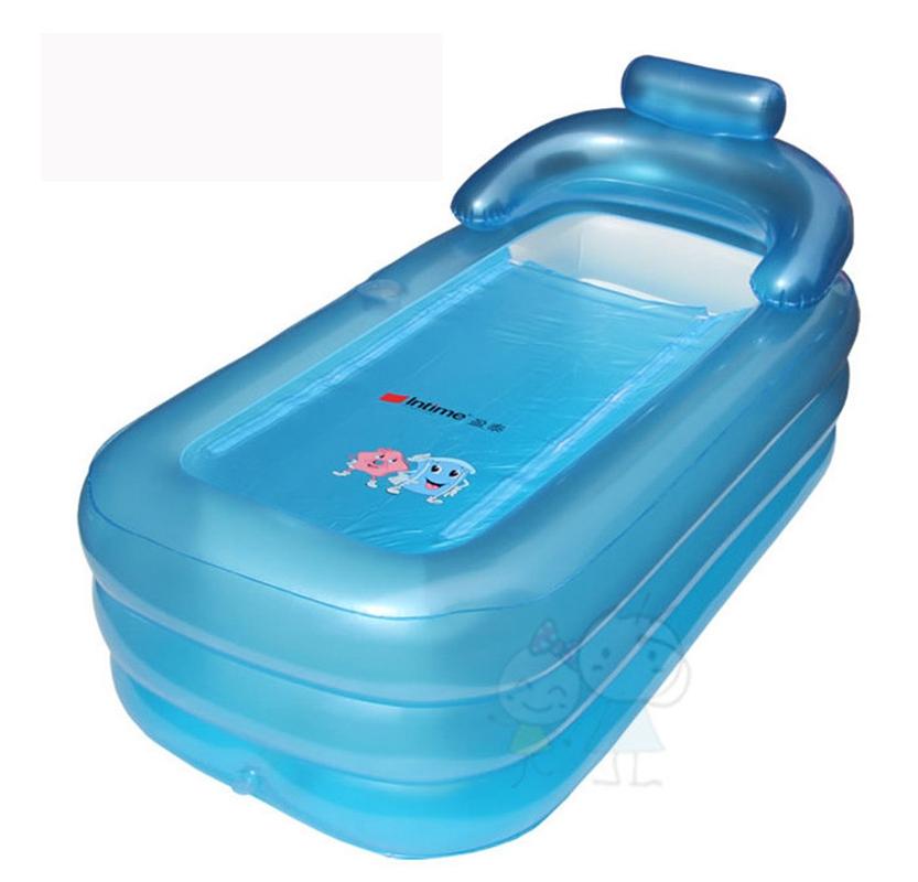 2 color Extra large size adult Thickening Portable Inflatable bath tub folding wholesale family Bathtub 160x84x64CM(China (Mainland))