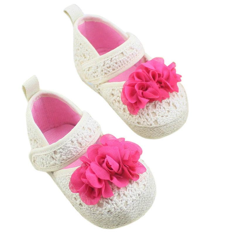 Baby Girl Casual Crib Shoes Princess Shoes Toddler Crochet Knit Shoes(China (Mainland))