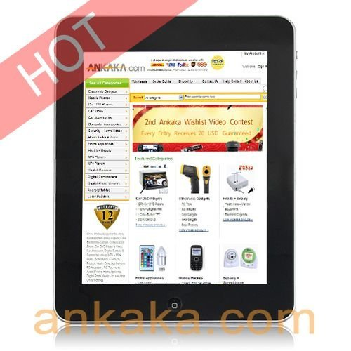 """A8: Android2.2 Tablet PC,Flash10.1, 8"""" Touch Screen , 1 GHz ARM CPU , 512MB DDR2 RAM, 1080P, Multi-task"""