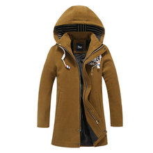 2016 New autumn Fashion Trench Men Trench Coats Long Slim Fashion Men Pea Coat Double Breasted Winter Overcoat For Male EB02(China (Mainland))