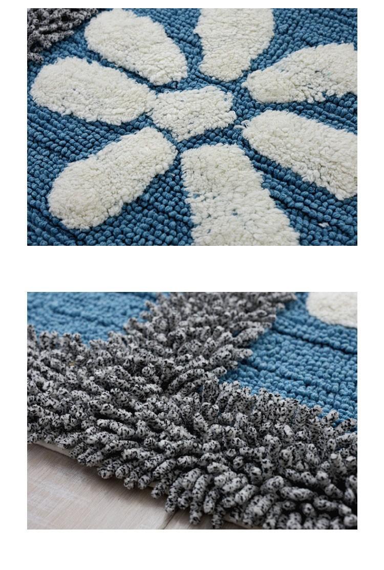 Cotton Chenille Shaggy Rug Handmade Soft Doormat Kids Children Rug ...