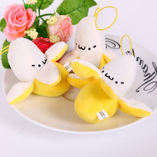 6cm Cute Banana toy Christmas Birthday Gift,Soft plush Stuffed Fuzz Banana Fruit Doll, Toy for cartoon Bouquet 10pcs/lot(China (Mainland))