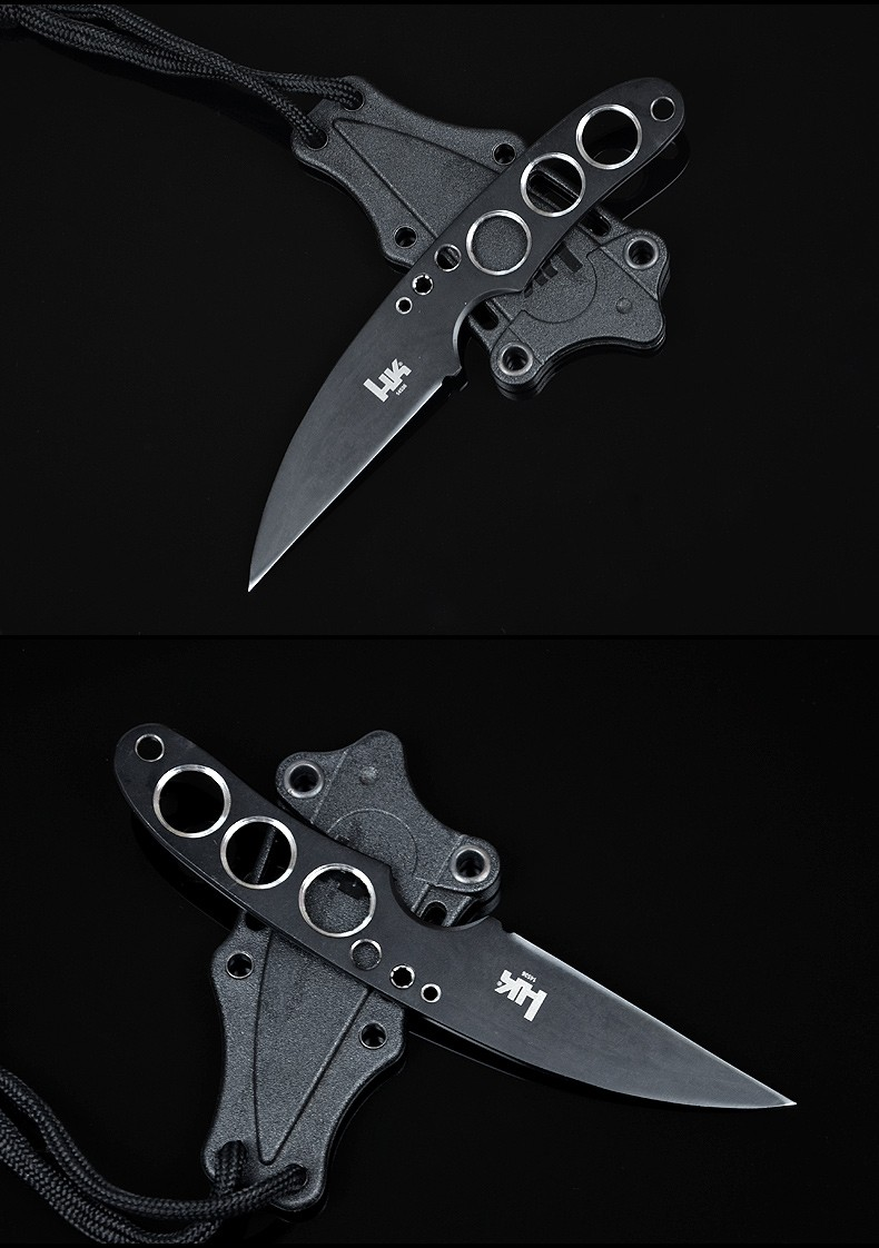 Buy Diving Knife USA HK Fixed AUS-8 Blade Knife Camping Survival Pocket Hunting Tactical Knives With Leggings Outdoor Tools K98 cheap