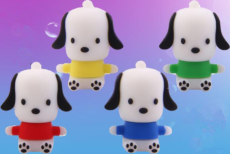 Cute Dog Model USB 2.0 USB Flash Drive 64gb Memory Storage Sticker USB Stick Pendrive U disk Pen Drive 32gb 16gb 8gb 4gb(China (Mainland))