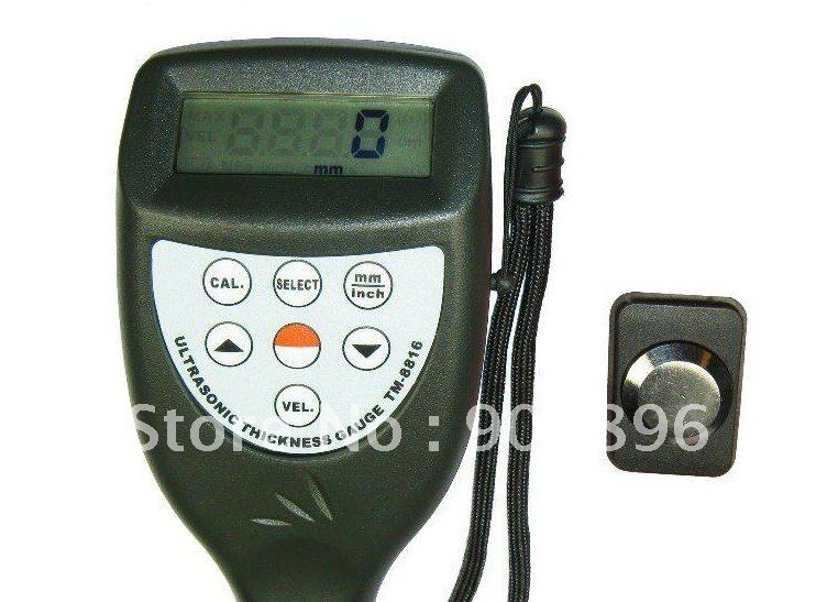 NEW Ultrasonic Wall Thickness Gauge Meter Tester Steel PVC Testing TM-8816 Free shipping(China (Mainland))