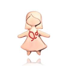Dello smalto Del Cuore Spille Spilla a Forma di Spille Neurologo Ciotola di Igea di Siringa Appena Nato Testa Gear Rene Gabbia Toracica Spilla Spille Delle Donne broche(China)