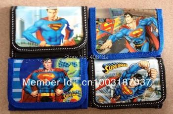 Boy's Super Hero Superman design  wallet Kids Birthday Gift  12pcs