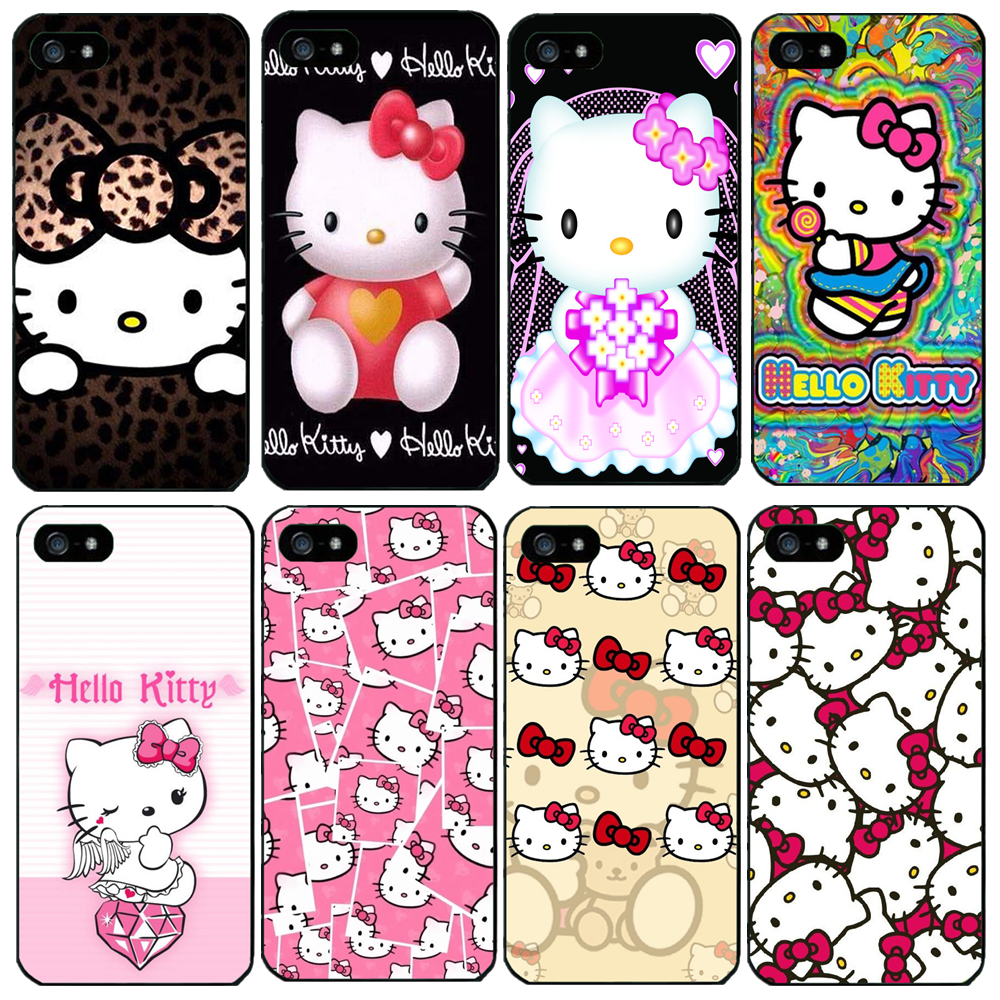 2015 Promotion Car Covers New Hello Kitty Pictures Pc Phone Case For Iphone 4 4s 5 5s Cases To Protect The Back Cover Scratches(China (Mainland))