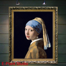 """oil painting on canvas 100% cotton core Johannes Vermeer """" Meisje met de parel (Girl with a Pearl Earring)"""" YGH025 ( no frame)(China (Mainland))"""
