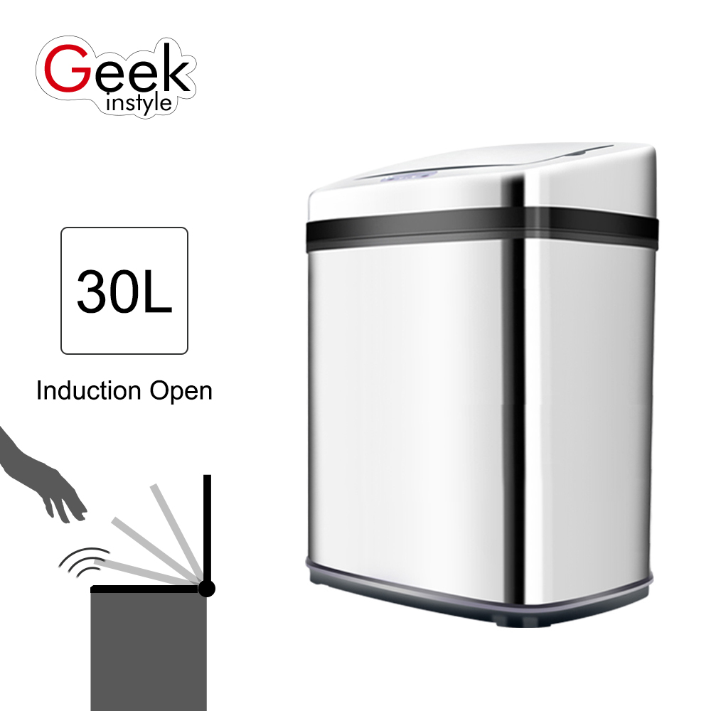 30L SD012 Touchless Automatic Car Dustbin Sensor Trash Can Eco-friendly Accessory Waste Bin(China (Mainland))