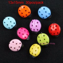 Buy 13x15mm 30pcs Sewing Ladybug Button Beads Sew Colored Buttons DIY Arylic Insect Garment Craft Gift Shoes Decoration New for $1.05 in AliExpress store