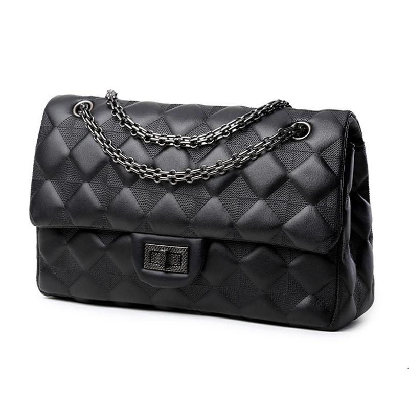 Фотография Fashion Sheepskin handbags Vintage Elegant Women Leather Handbags women messenger bags Classic Chain Flap Super star