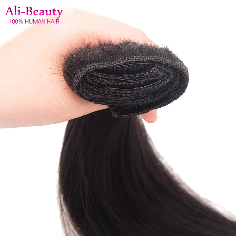Clip in European Human Hair Extensions Clip On Natural Aplique Tic Tac Cabelo Humano Clip In Staright Real Human Hair Extention