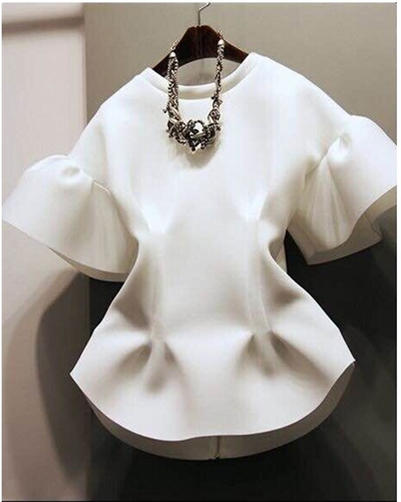 2016 best selling women 39 s fashion white top blouses office for Nice shirts for womens