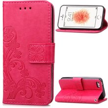 Funda Clover Case for Apple iPhone 6 6S Leather Cover Luxry Flip Capa Mobile Phone Bag Cover for iPhone 6 plus Phone case