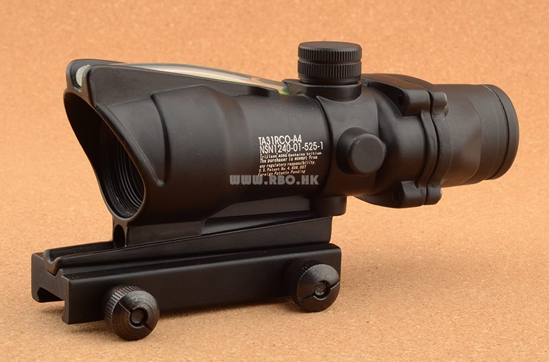 Trijicon ACOG 1x32 optical fiber Green Red Dot Sight scope Free shipping M2284(China (Mainland))