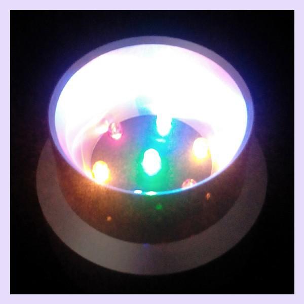 7 Multicolor Lights LED Plastic Base/Stand Crystal Ball Display Base(China (Mainland))