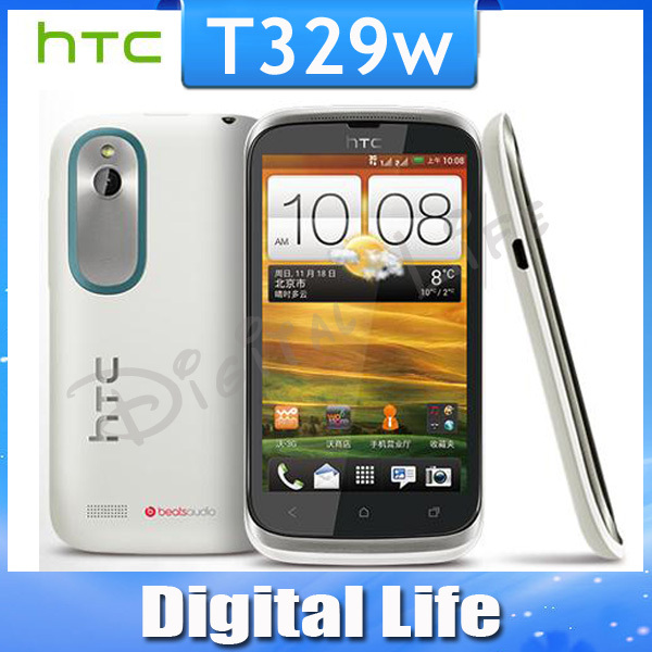 Original HTC Proto T329w Russian Android GPS WIFI 4.0''TouchScreen 5MP camera Unlocked Cell Phone Fress Shipping(China (Mainland))