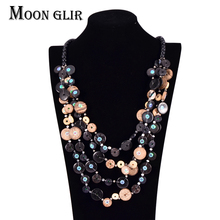 Coconut shell statement  bohemian necklaces Newest african beads jewelry  multi layer necklaces flor women wholesale sc4(China (Mainland))