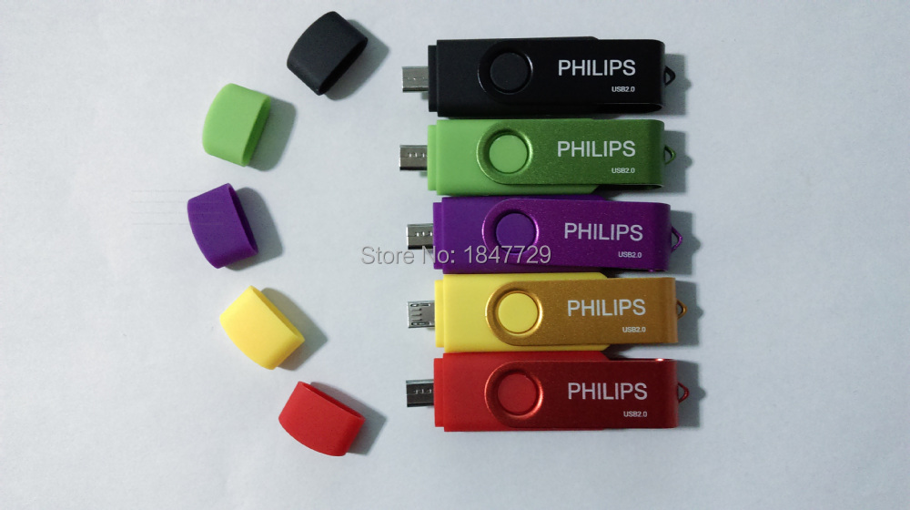 Retail 256GB Origina rotation PHILPS OTG USB flash drive /Tablet PC/Computer GeneralOTG flash memory/OTG U disk(China (Mainland))