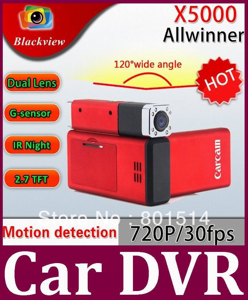 Red/Black Color X5000 DVR Car Vehicle Camera with HD 1080P 140 Degrees,Car Black Box DVR Recorder Carcam 50pcs/lot Free DHL(China (Mainland))
