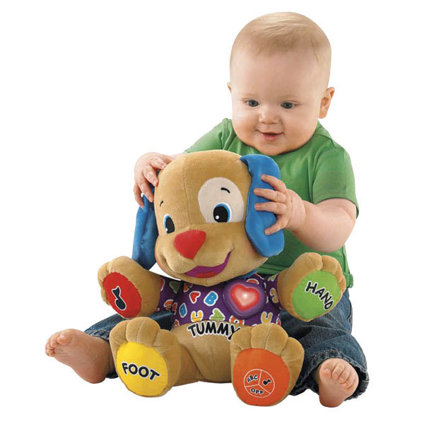 Fisher Dog Toys Baby Musical Plush Electronic Toys Dog Singing English Songs Learning&Education Love To Play Puppy low *price(China (Mainland))