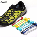 Stretching Lock lace 23 colors a pair Of Locking Shoe Laces Elastic Sneaker Shoelaces Shoestrings Running