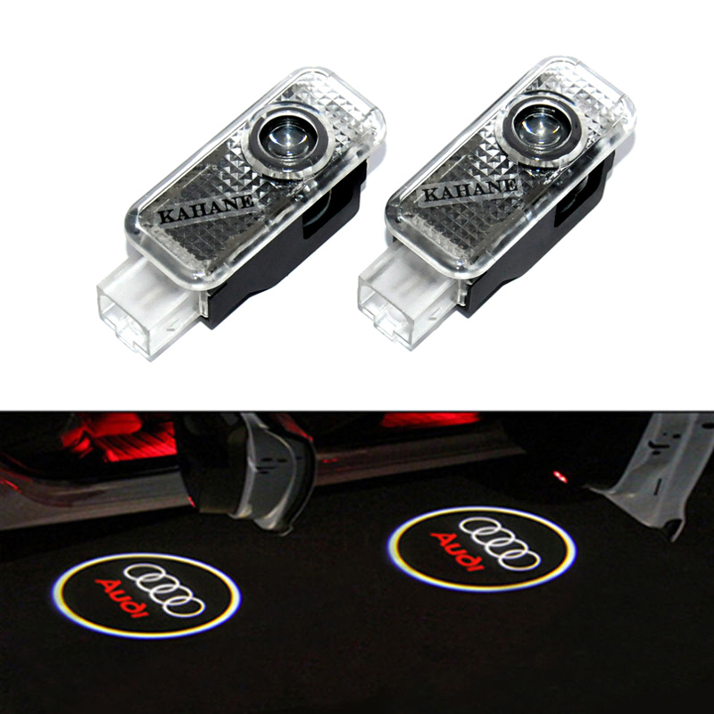 2x LED Car Door Welcome Light Laser Car Door Shadow led Projector Logo For Audi RS S4 S5 S6 S7 A1 A3 A4 A5 80 TT A6 A8 Q3 Q5 Q7(China (Mainland))