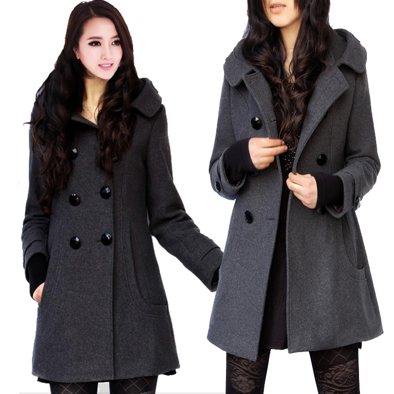 Similiar Ladies Wool Peacoat With Hood Keywords