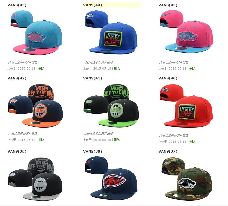 2015 Brand gorras Vans Snapback Caps mesh baseball hats hip hop Street Vans Warped Tour Hat Cap Off The Wall bone Snapbacks(China (Mainland))