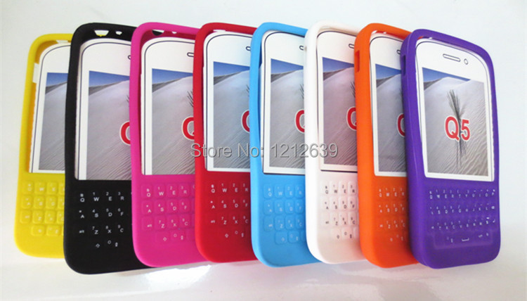 Q5 Case Q5 protection shell q5 phone case protective case silica gel set big letter surrounded by button wholesale(China (Mainland))