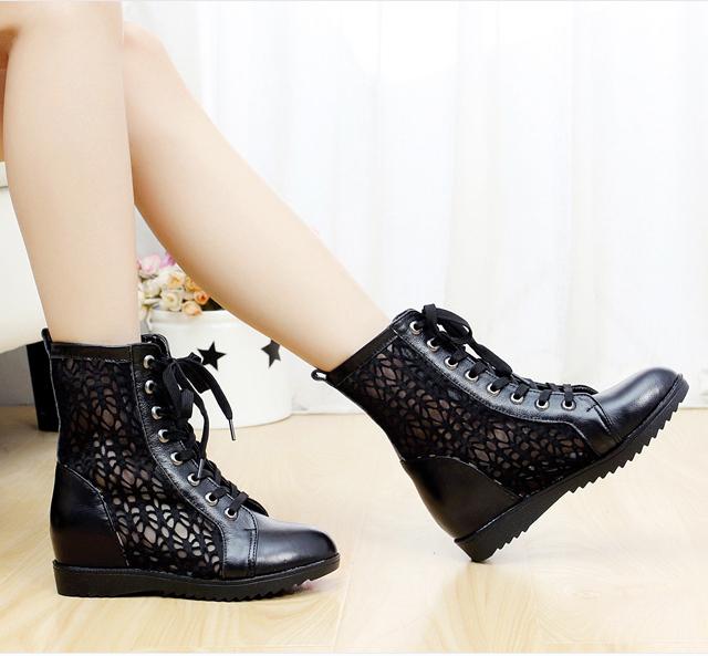 Леди мода женщин летние сапоги 2015 узелок вырезаемое сапоги мода обувь реальные ...