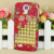 Fashion For Samsung Galaxy S4 I9500 Flowers Punk Studs Pyramid Hard Case Cover Free Shipping