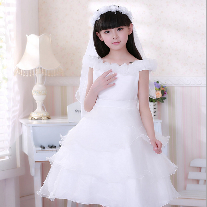 Free Shipping 2014 New Arrival Korean Fashion Children Wedding Dress Princess Cake Baby Girl Party Dancing Clothes<br><br>Aliexpress