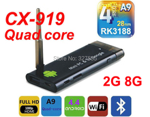 New IPTV CX919 RK3188 Quad Core 1.6Ghz Android 4.4.2 Mini PC 2GB+8GB Android TV Box, Smart TV Box, Bluetooth 4.0, Strong Singal(China (Mainland))