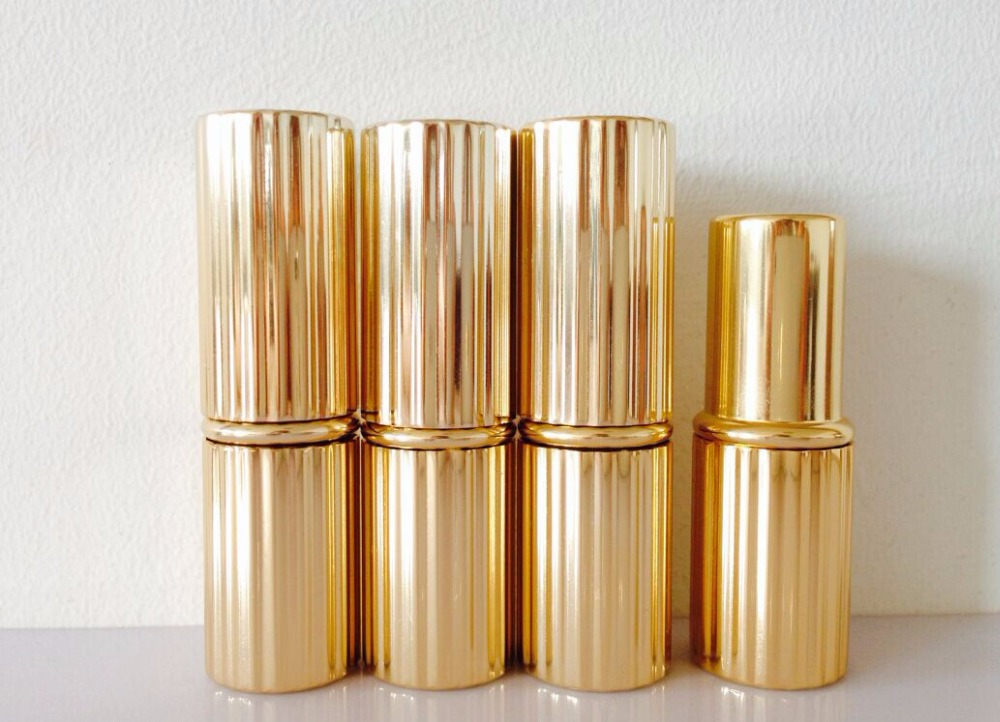 10 pcs 4.5g golden aluminum tube lipstick tube container / cylindrical filling DYL lipsticks tubes<br><br>Aliexpress
