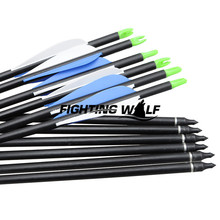 12pcs 31 Inch 80cm Spine 500 Blue White Target Practice Steel Point Archery Fiberglass Arrows for