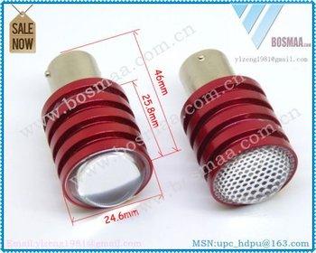 free shipping + promotion 1156/Ba15s/P21W -2x5W CREE Q5 high power xenon white 6000k Led Car bulb reverse light