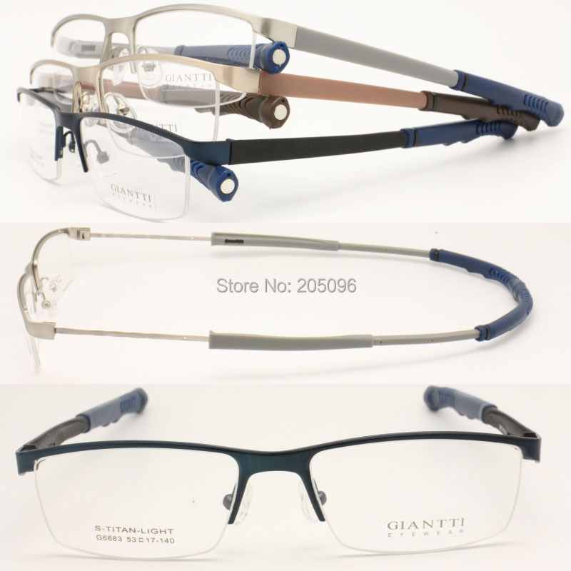 wholesale lot G6683 lady classic stylish geometry halfrim s titanium adjustable temple sport optical glass frames free shippingОдежда и ак�е��уары<br><br><br>Aliexpress