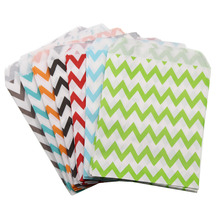 Buy 100pcs 4 style Polka Dot Wavy Stripes Paper candy Food Bag party favors wedding paper bags gifts for $7.65 in AliExpress store