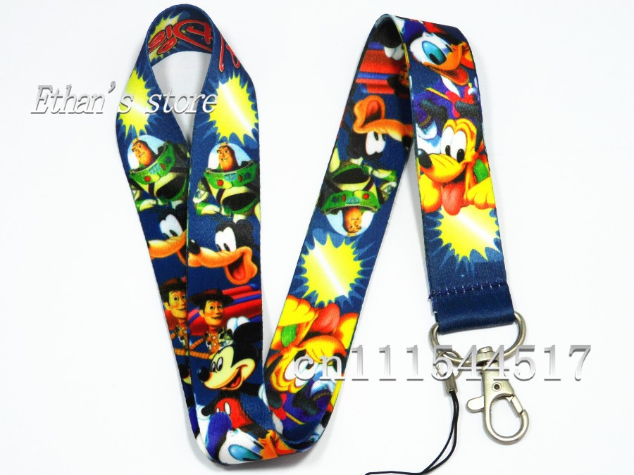 Free Shipping Mickey Mouse & Donald Duck KeyLanyard wholesale Mobile Phone chains Lots(China (Mainland))