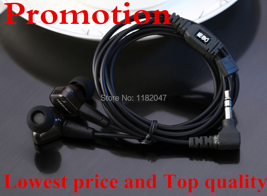 Promotion!! tanatar Hifi IE80 earphone Best quality Best Units & Cable IE-80 headset Brand New IE 80 In-Ear earphones