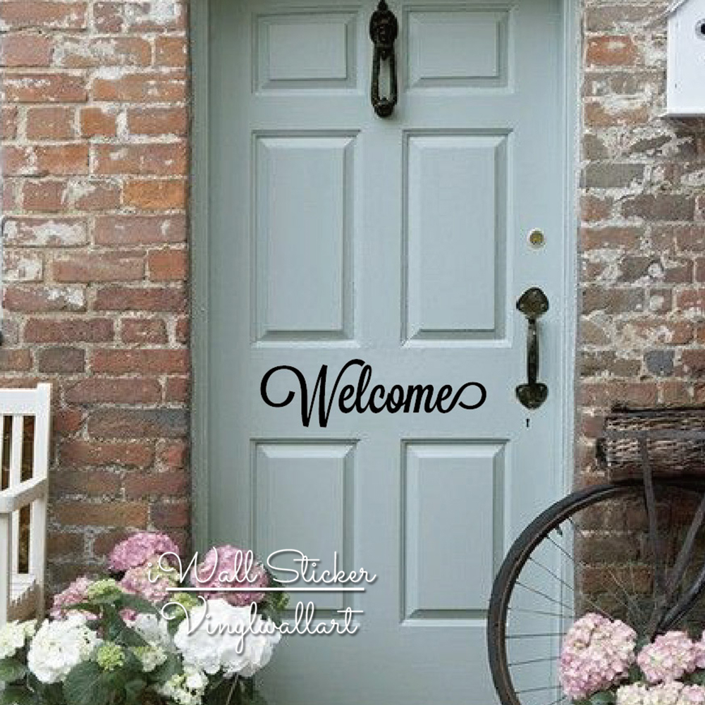 welcome wall sticker door quote wall sticker removable wedding welcome wall sticker wall stickers
