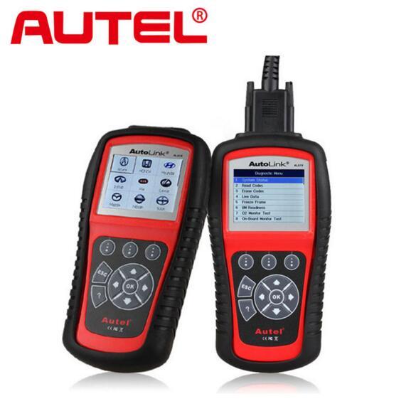 Original Autel AutoLink AL619 AUTO CAN OBDII Code Reader + ABS / SRS system diagnosis AL 619 Online Update Diagnostic tool(China (Mainland))