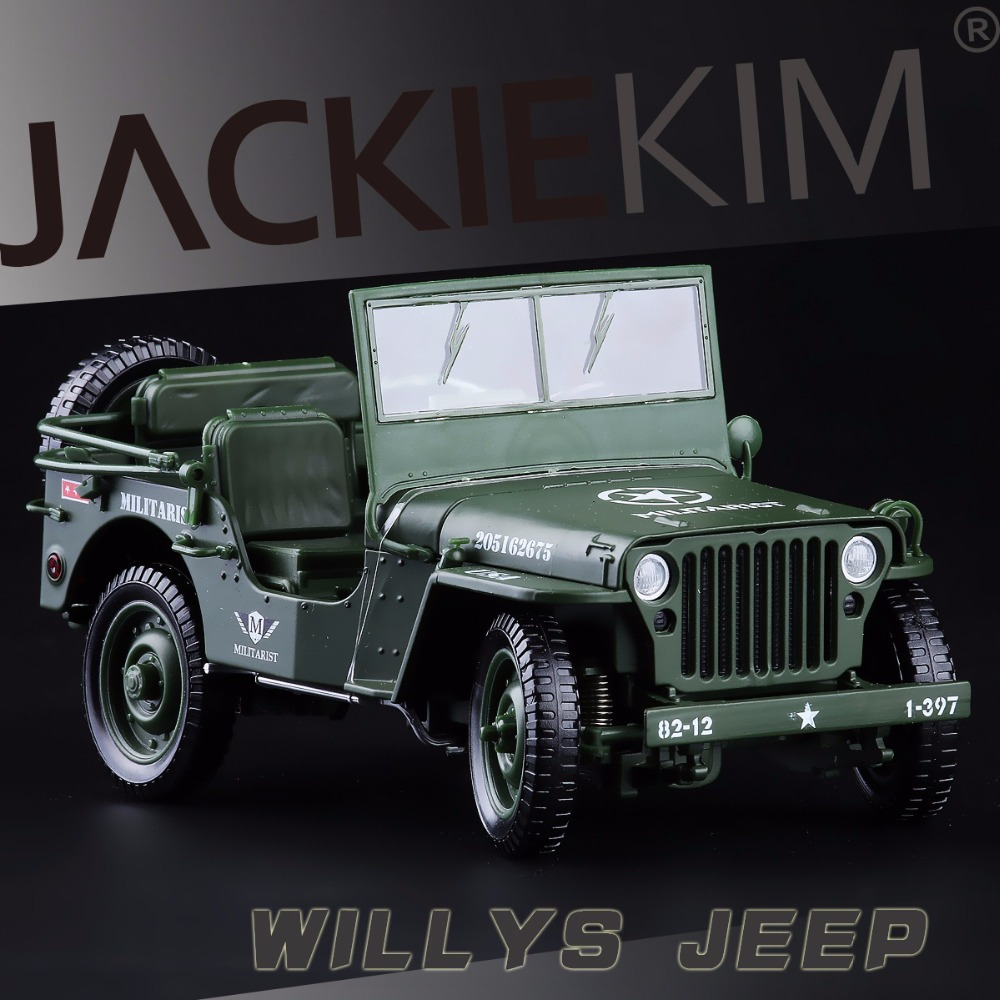 High Simulation Exquisite Collection Toys Car Styling Willys Jeep Model 1:18 Alloy Military Model Fast Fruious(China (Mainland))