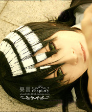 DEATH THE KID SOUL EATER Chequered With Black and White Cos Wig Cosplay Costume Wigs+ Free Wig Cap